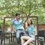 ชุดคู่รักแฟชั่นไสตล์เกาหลี เสื้อแขนเปิดไหล่ สีฟ้าน่ารัก + เสื้อยืดชาย ผ้านิ่ม ใส่สบายมาก ๆ thumbnail 5
