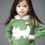 เสื้อแขนยาว สีเขียว ฮูดสีขาว ลายแมวเหมียว thumbnail 3
