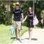 ชุดคู่รักแฟชั่นสไตล์เกาหลี เสื้อยืด +เดรส ลาย MARIN สุดเก๋ มี 2 สี เทา น้ำเงิน thumbnail 5