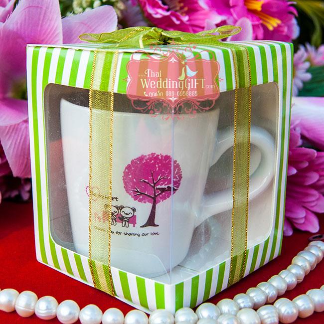 แก้วกาแฟเล็ก ทรงคลาสสิคเล็ก สกรีน 2 สี แพ็คกล่อง