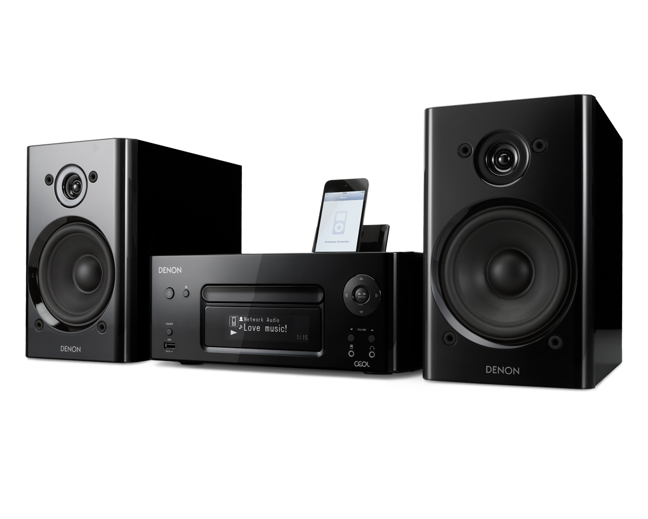 ชุดเครื่องเสียง Denon CEOL N8 (Black) ชุดเครื่องเสียงที่รองรับการเชื่อมต่อแบบไร้สายด้วยเทคโนโลยี Air Play