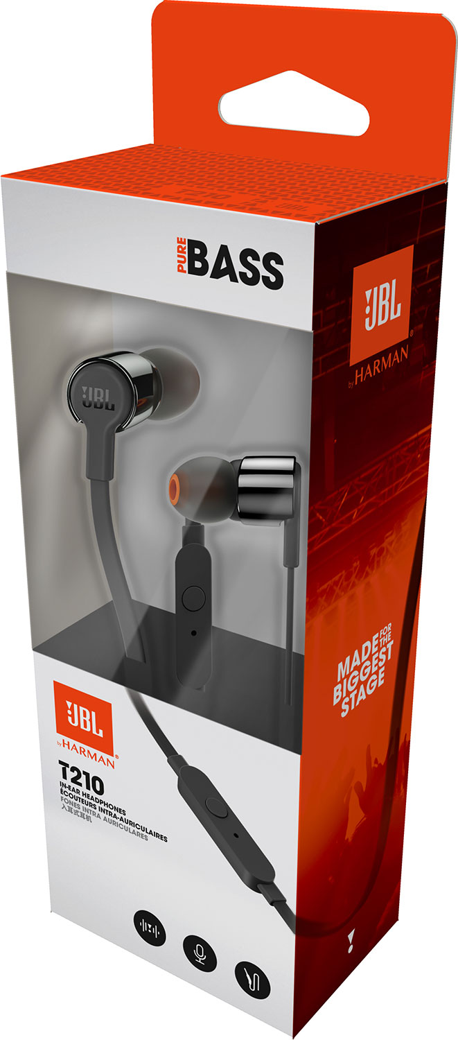 JBL T210 In-Ear Headphone - Black ราคา 990 บาท
