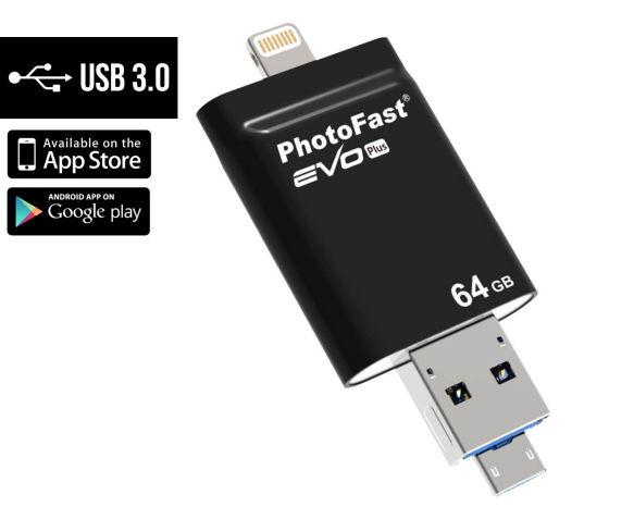 i-FlashDrive Evo 8 PIN 64GB สวยหรูใช้งานง่ายหมดปัญหาการโอนไฟล์สำหรับ iosอีกต่อไป