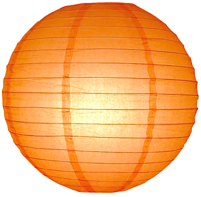 40 cm. โคมไฟกระดาษ ส้ม