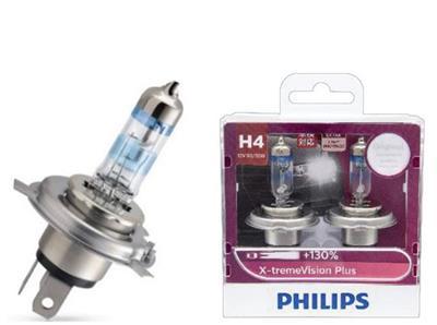 หลอดไฟ Phillip XVP H4 130% 60/55W