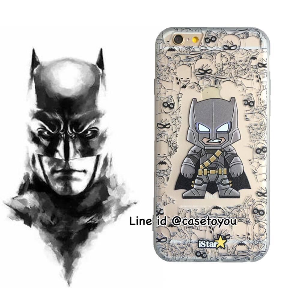 เคสใส สกรีนลายเส้นนูน Batman iPhone 6 Plus/ 6S Plus