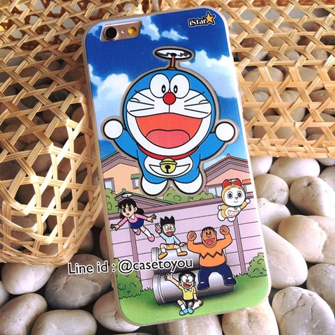 Doraemon ขอบยางนิ่ม iPhone 6/6S