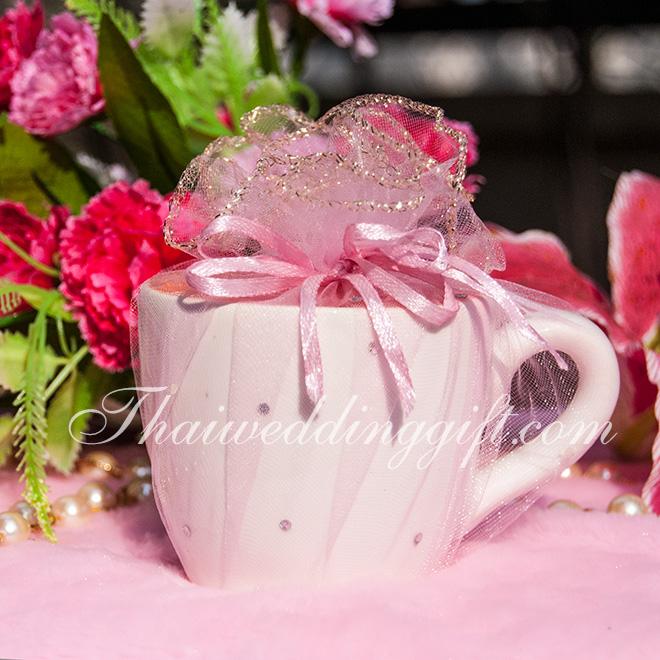 แก้วกาแฟ ทูโทน แพ็คถุงฟูกากเพชร