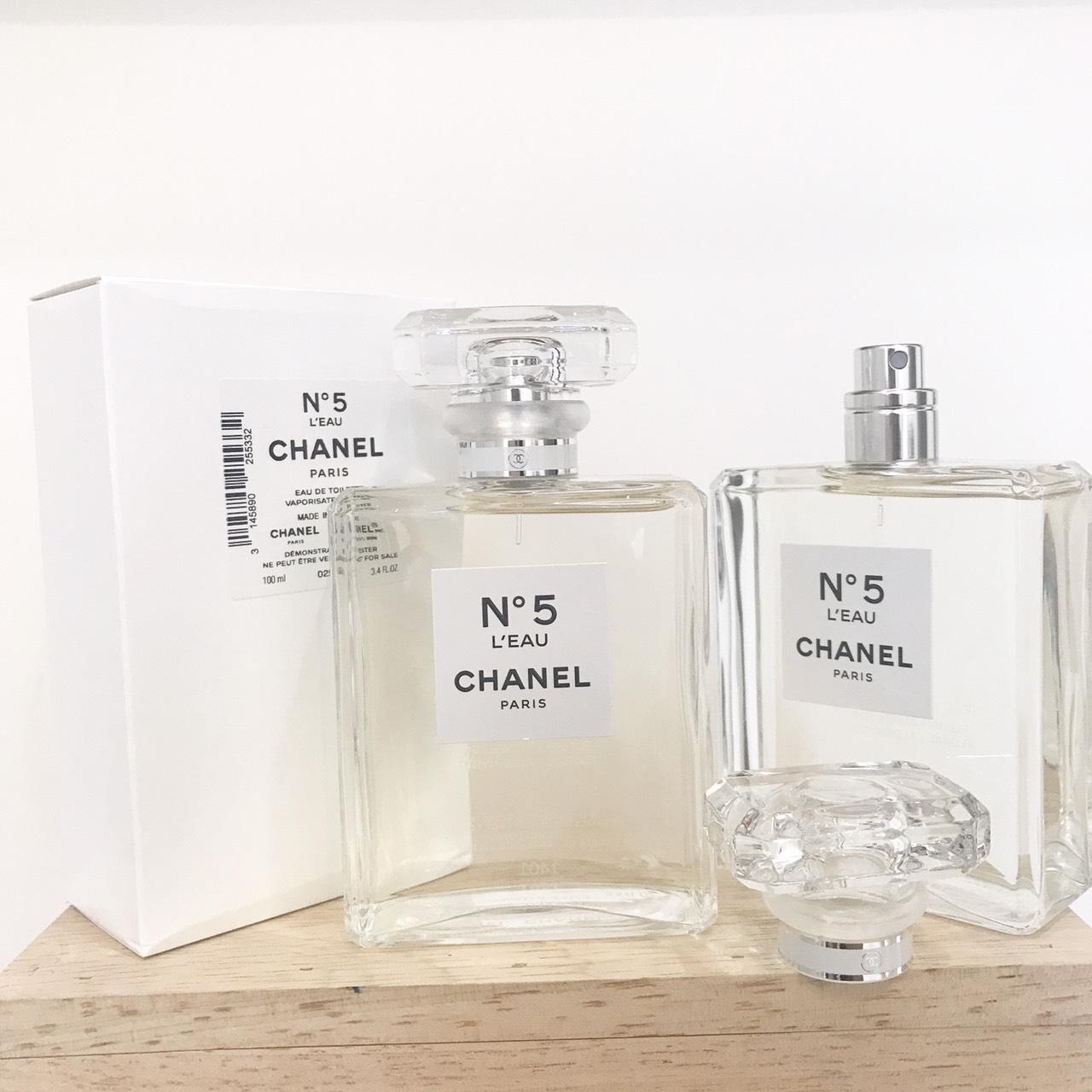 น้ำหอม (กล่องเทสเตอร์) Chanel No.5 L'eau EDT 100ml. ของแท้ 100%