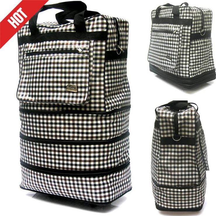 Value Luggages กระเป๋าเดินทางพับได้ 4 ชั้นมีล้อลาก รุ่นVBL-001 (ลายสก็อต)