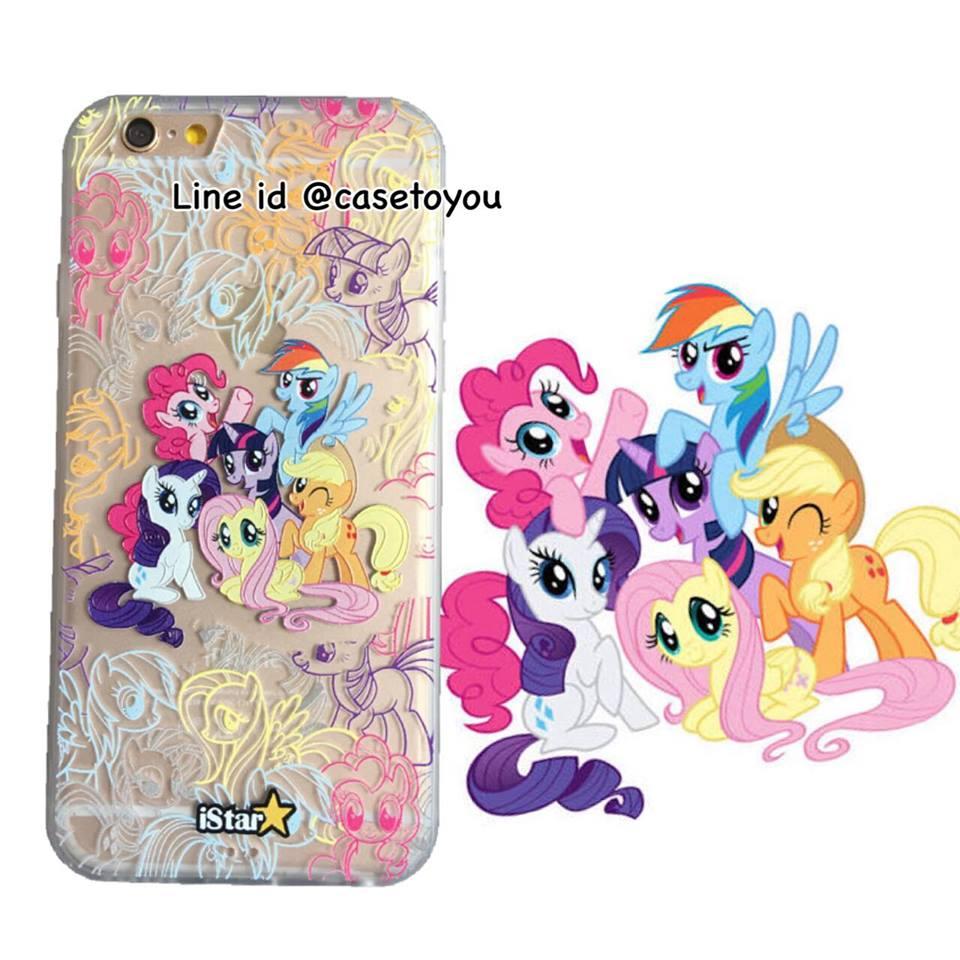 เคสใส สกรีนลายเส้นนูน Pony iPhone 6 Plus/ 6S Plus
