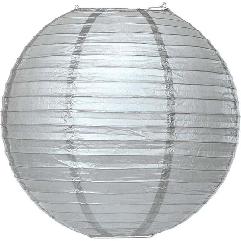 20 cm. โคมไฟกระดาษ Silver