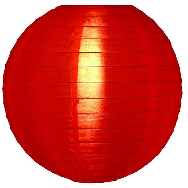 โคมไฟผ้า ภายนอก สีแดง