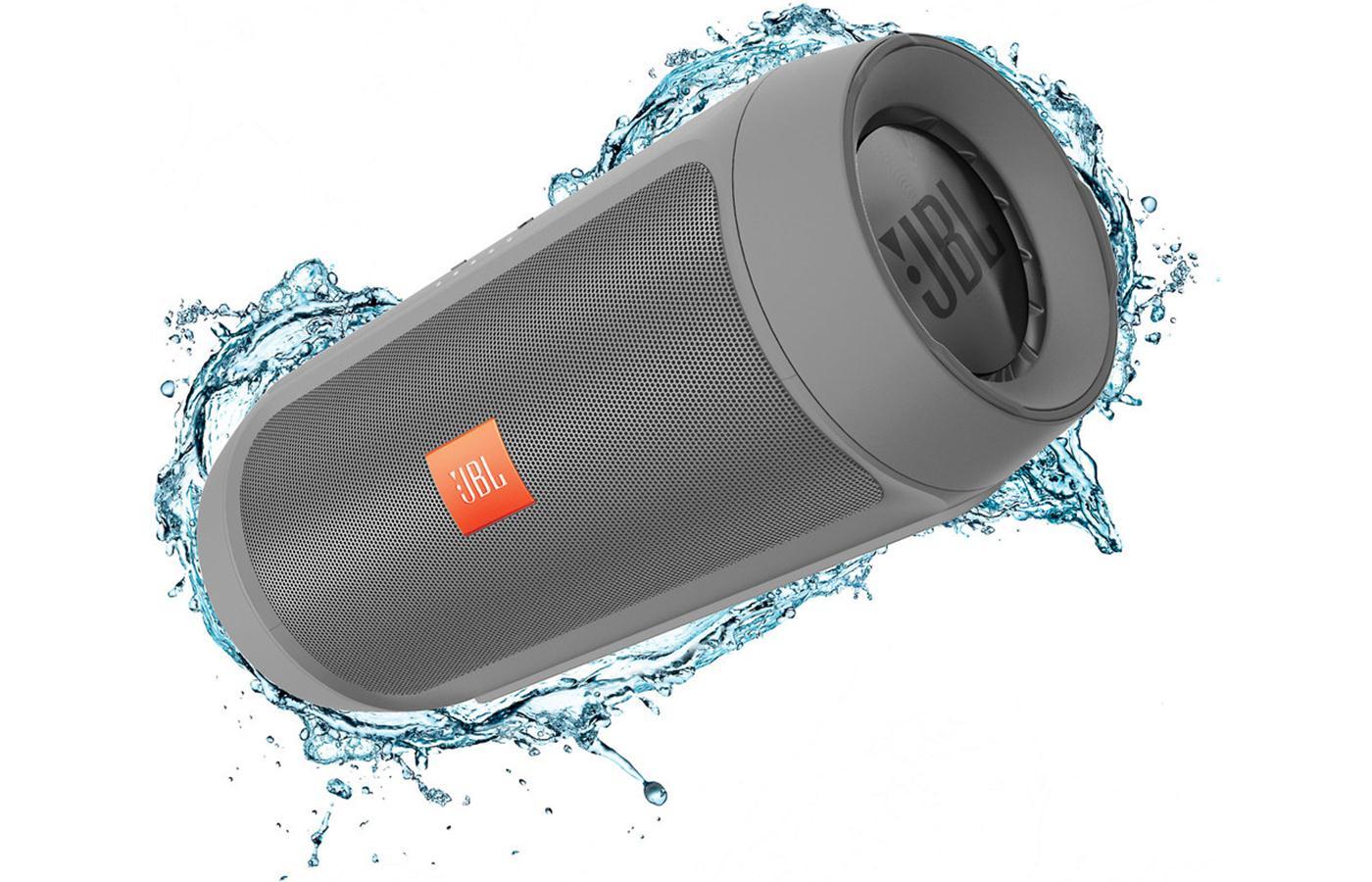 JBL Charge 2+ ลำโพงพกพากันน้ำได้ พลังเสียงเบสอิ่ม แน่น กระหึ่ม (Grey) แถมกระเป๋าฟรี 1 ใบ