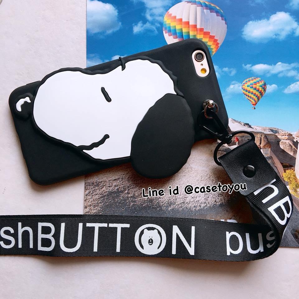 เคสนิ่ม แถมสายคล้องคอ Snoopy iPhone 6/6S