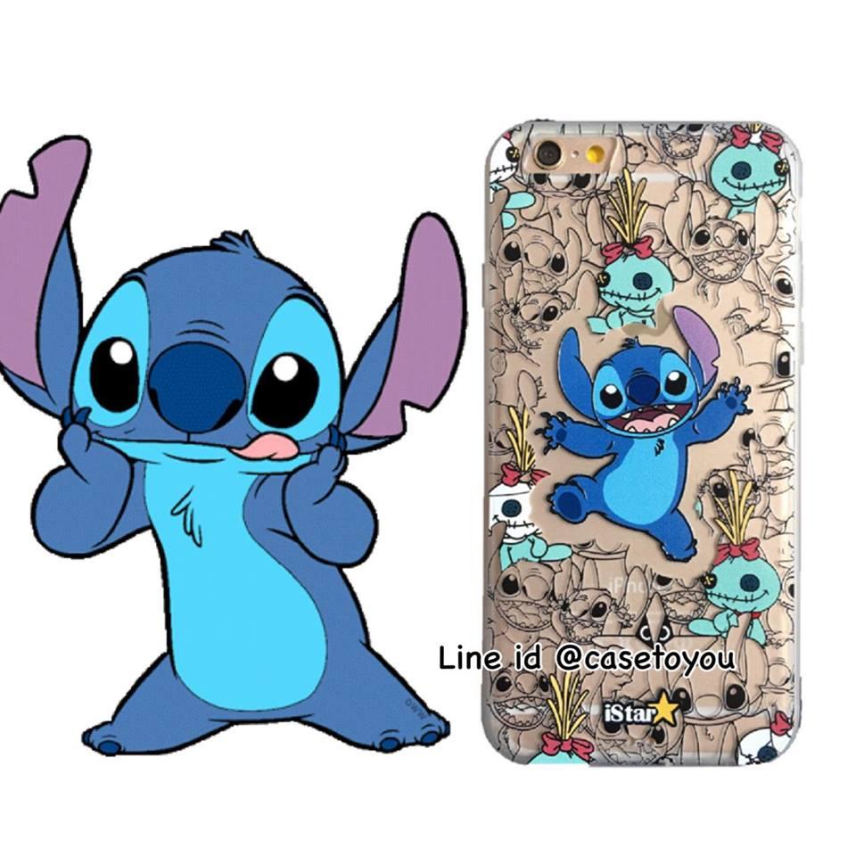 เคสใส สกรีนลายเส้นนูน Stitch iPhone 7