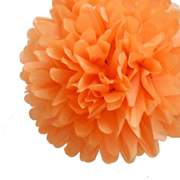 30 cm. พู่กระดาษ ส้ม