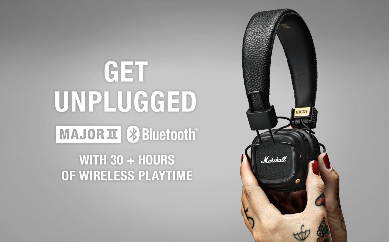 หูฟัง Marshall Major II Bluetooth ราคา5,990บาท มาแล่วหูฟังเชื่อมต่อผ่านBluetooth