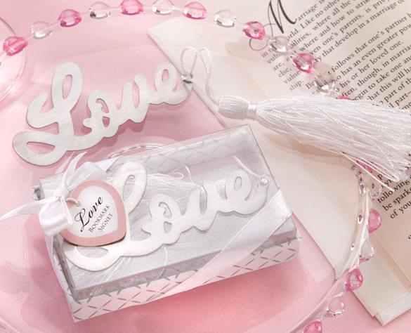 ที่คั่นหนังสือ LOVE กล่องลายฝาใส พร้อมป้ายชื่อ