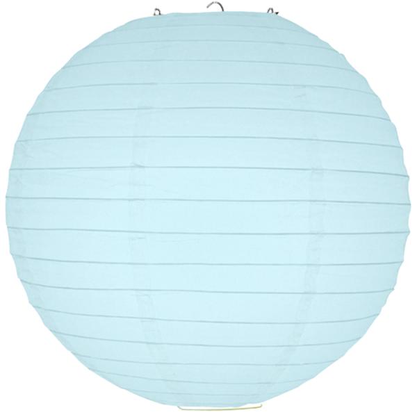 30 cm. โคมไฟกระดาษ สีฟ้าอ่อน