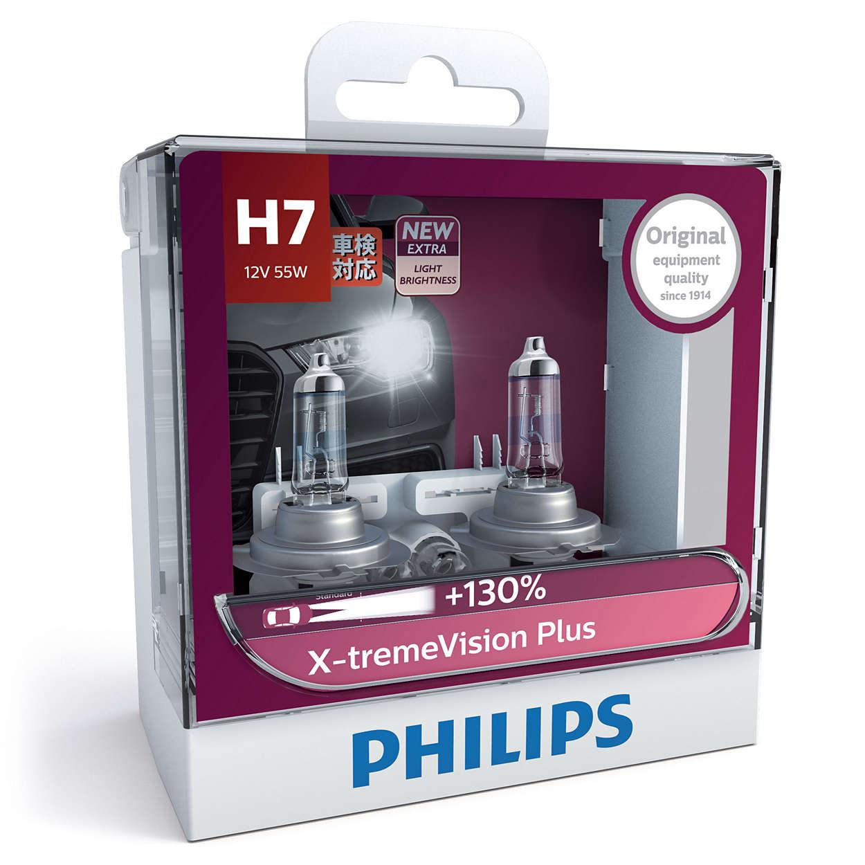 หลอดไฟ Phillip XVP H7 130% 60/55W