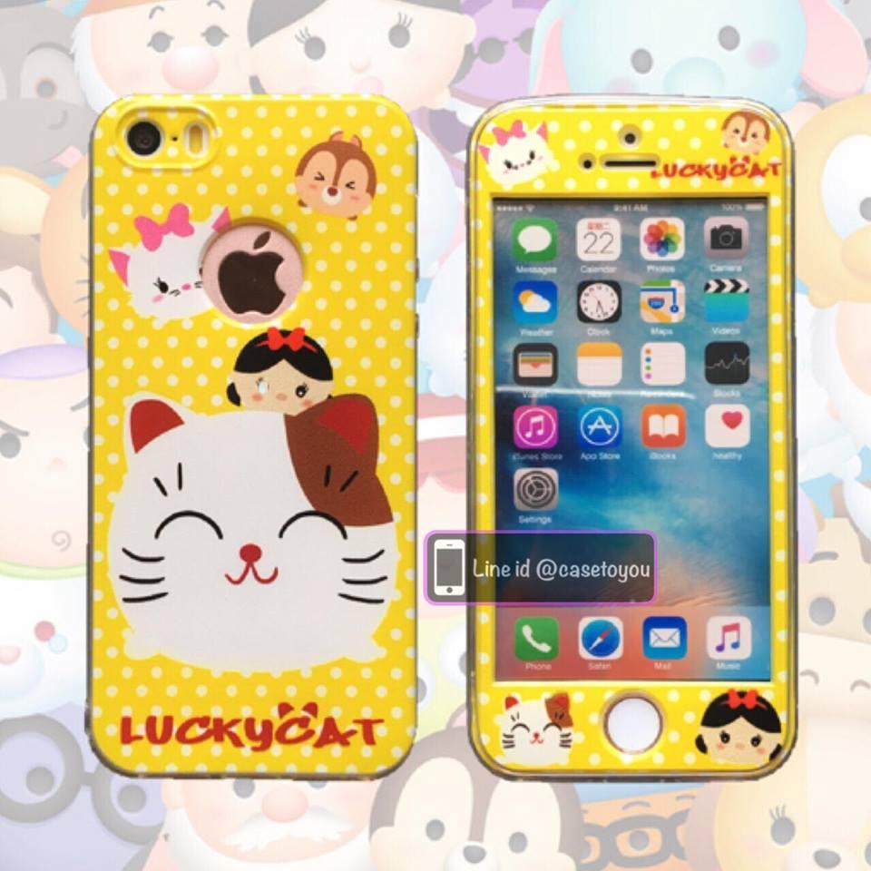 เคสประกบหน้าแข็ง หลังนิ่ม Maneki Neko iPhone 6/6S
