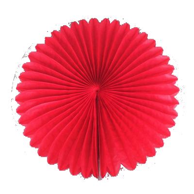 พัดกระดาษ แดง