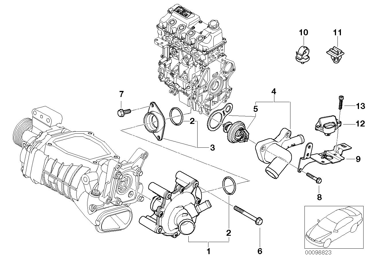 ปั๊มน้ำ MINI R53 / Water Pump, 11517520123