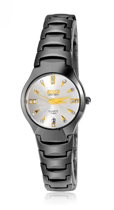 BOSCK watches women นาฬิกาผู้หญิง แบรนด์ของฮ่องกง ระบบควอทด์ กันน้ำ กันขูดขีด