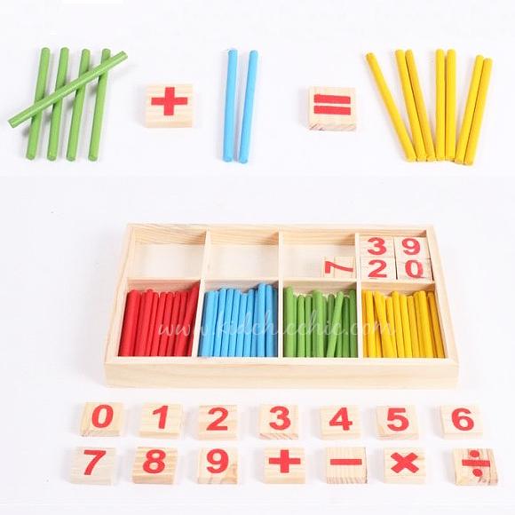 ตัวเลข+แท่งไม้สอนคณิตศาสตร์
