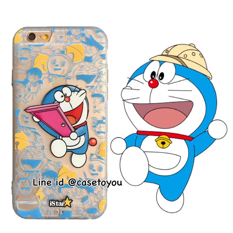 เคสใส สกรีนลายเส้นนูน Doraemon iPhone 6 Plus/ 6S Plus
