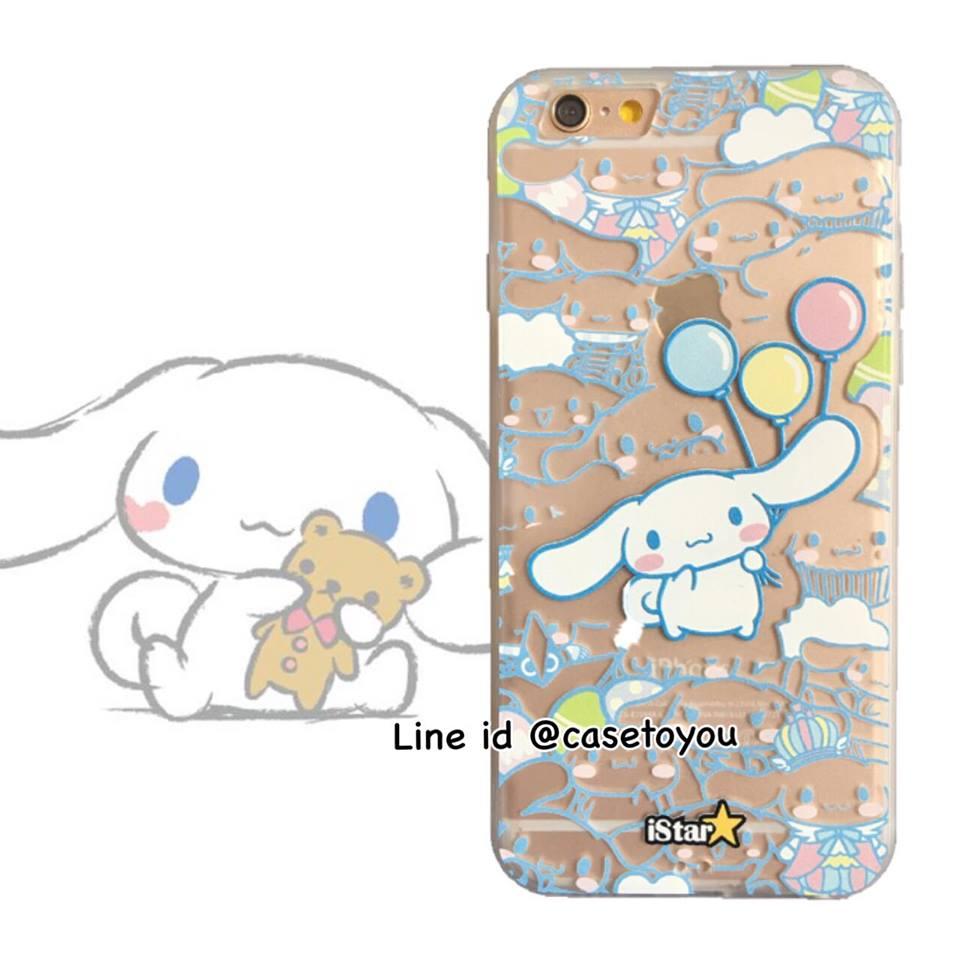 เคสใส สกรีนลายเส้นนูน Cinnamoroll iPhone 6/6S
