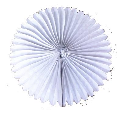 15 cm. พัดกระดาษ ขาว