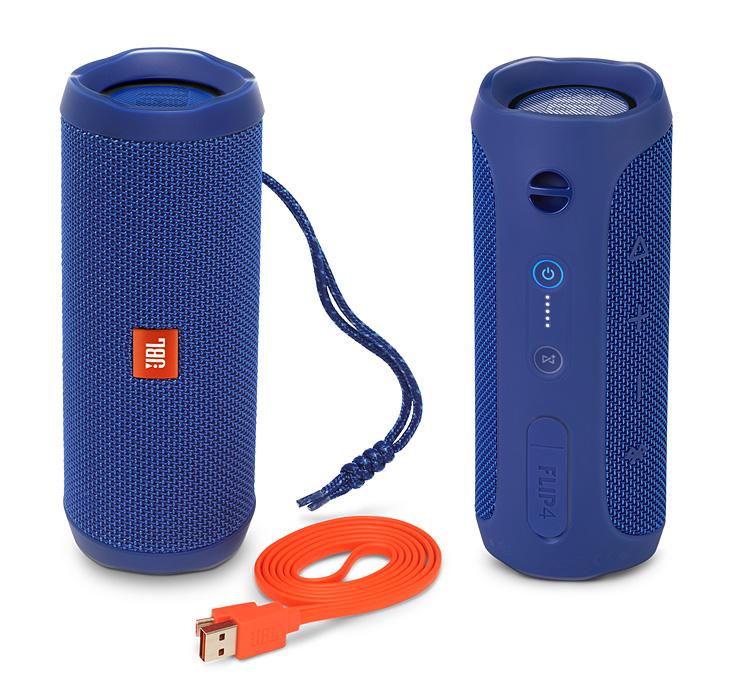 มันก็จะฟินๆหน่อย JBL FLIP4 BLUEราคา 4,390 แถมกระเป๋าใบละ 500 แถมส่งฟรีemsทั่วไทย
