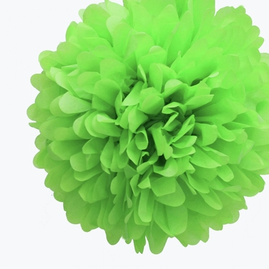15 cm. พู่กระดาษ เขียว