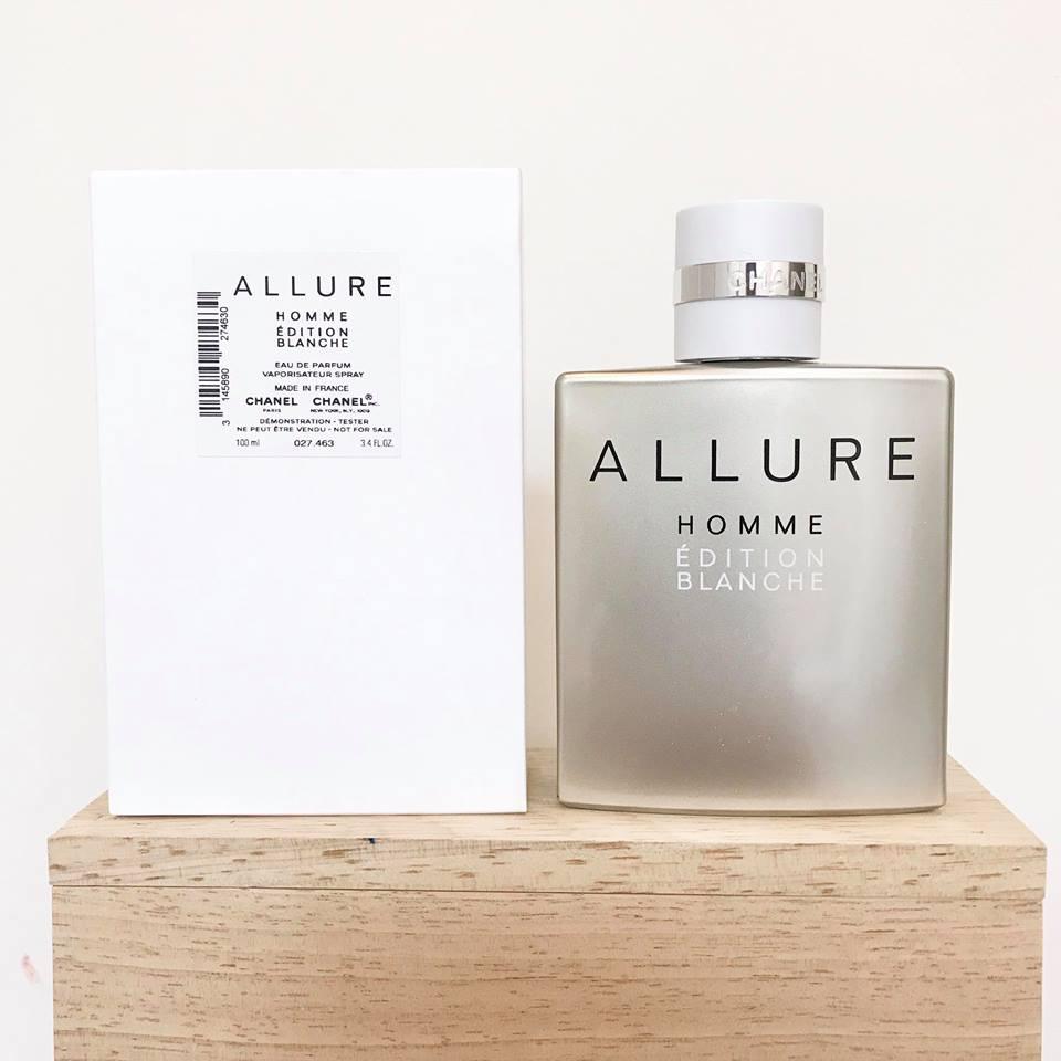 น้ำหอม กล่องเทสเตอร์ Chanel Allure Homme Edtition Blanche EDP 100ml. ของแท้ 100%