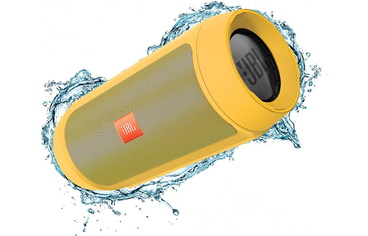 JBL Charge 2+ ลำโพงพกพากันน้ำได้ พลังเสียงเบสอิ่ม แน่น กระหึ่ม (Yellow) แถมกระเป๋าฟรี 1 ใบ