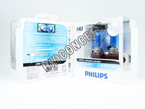 หลอดไฟ Phillip DV 5000K H11 55W