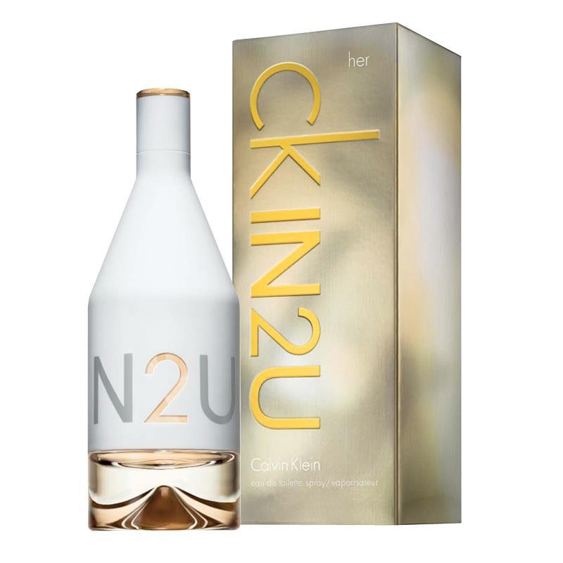 น้ำหอม (มีกล่องพร้อมซีล) Calvin Klein CK IN2U For Her EDT 100ml. ของแท้ 100%