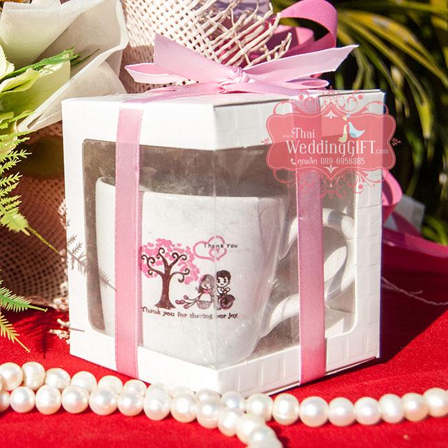 แก้วกาแฟคาปูชิโน่ สกรีน 2 สี แพ็คกล่อง