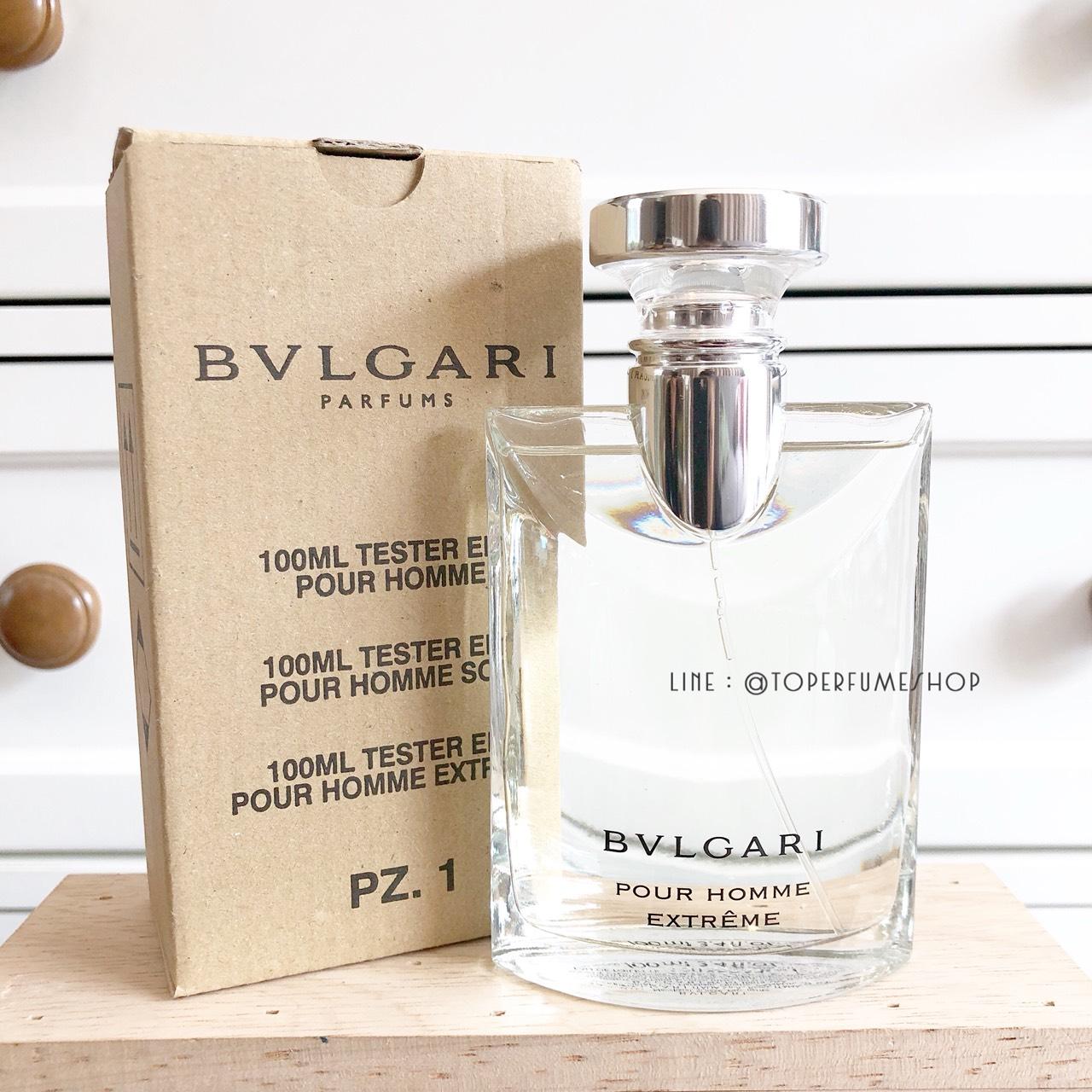 น้ำหอม (กล่อง TESTER) Bvlgari Pour Homme Extreme EDT 100ml. ของแท้ 100%