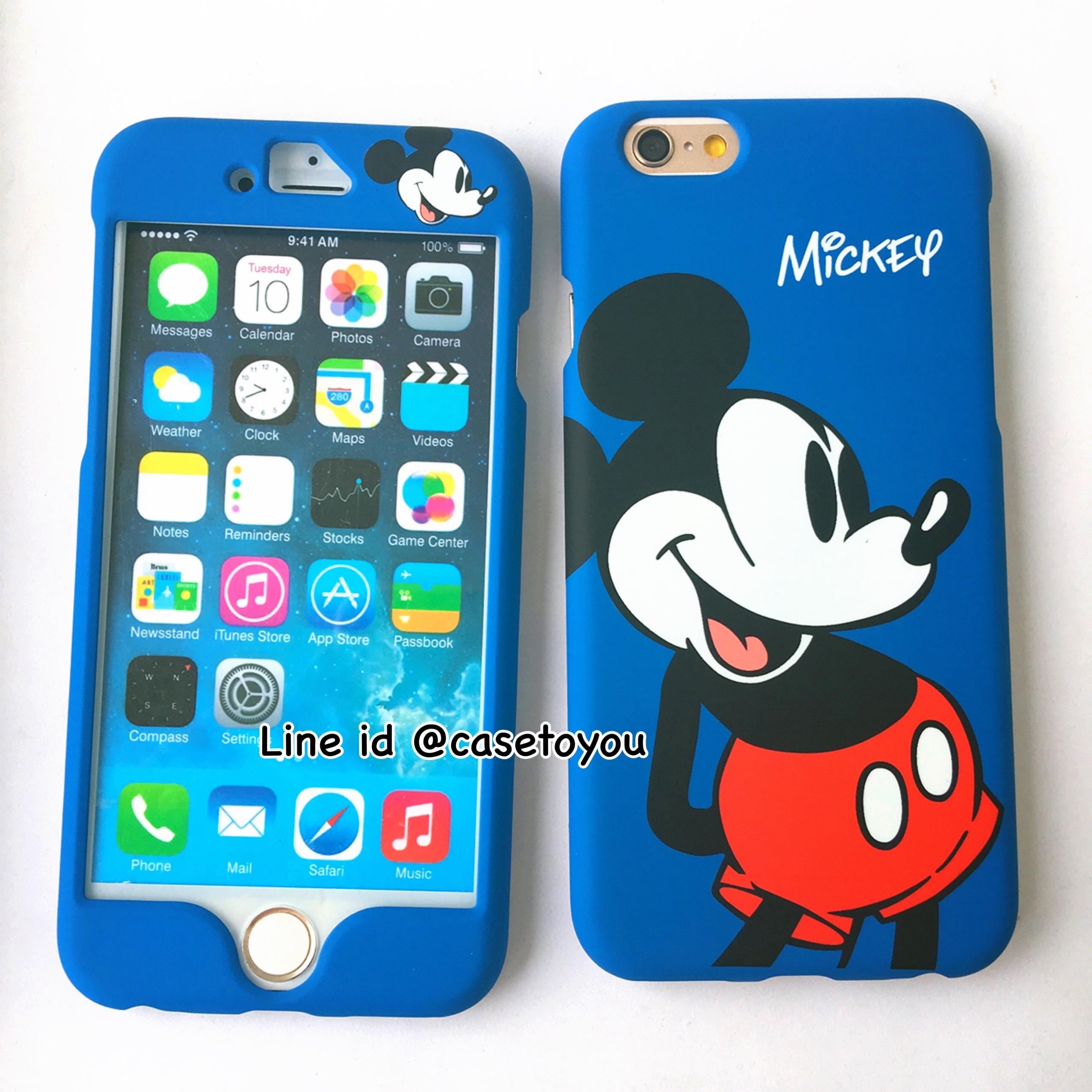 เคสประกบหน้า-หลัง Mickey Mouse iPhone 6/6S