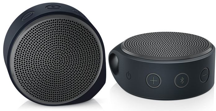 Logitech Mini Bluetooth Speaker X100 ลำโพงพกพาที่มาพร้อมกับเสียงที่ฟังสบายที่สุด สีดำ/เทา