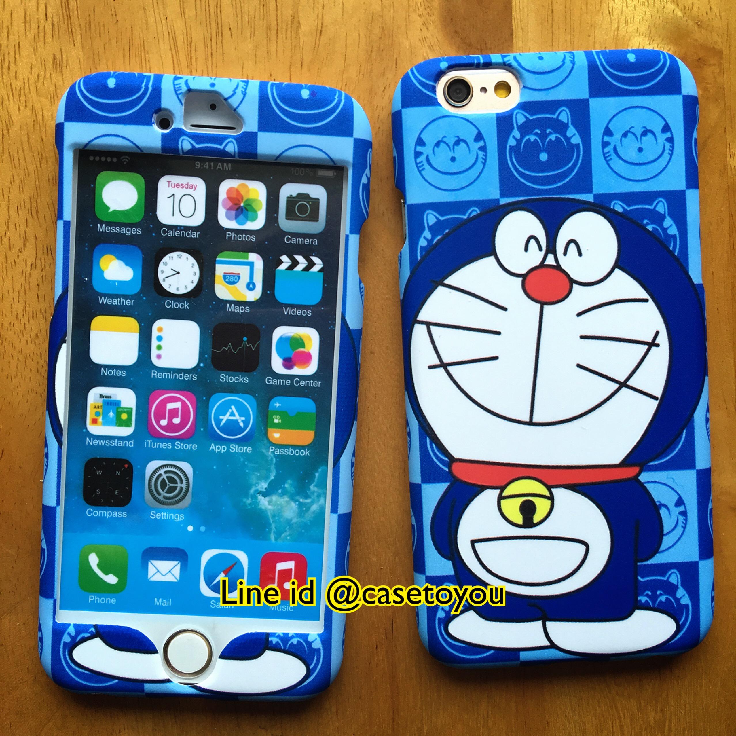 เคสประกบหน้า-หลัง Doraemon 04 iPhone 6/6S