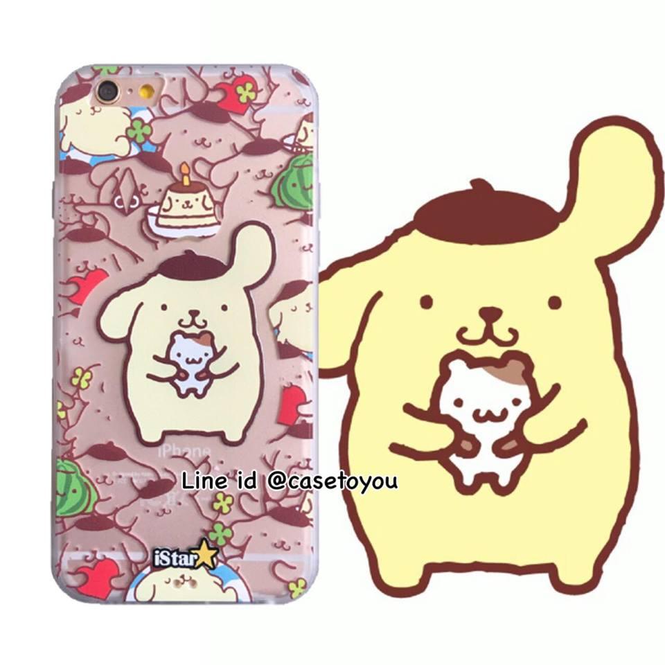 เคสใส สกรีนลายเส้นนูน Pom Purin iPhone 5/5S/SE