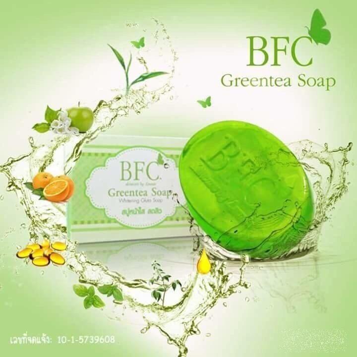 สบู่ BFC สบู่ชาเขียว Greentea Soap