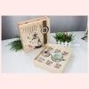 ชุดกาน้ำชาพร้อมถ้วย 6 ใบ เนื้อดี สีชมพู แพ็คกล่องสวยหรู
