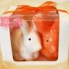 กระต่ายคู่เซรามิกใส่เครื่องเทศ แพ็คเกจของชำร่วย