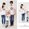 เสื้อครอบครัวแฟชั่นสไตล์เกาหลี ลายการ์ตูน ใส่ทั้งครอบครัวดูน่ารัก (3 ชุด)