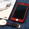 เคสประกบหน้าแข็ง หลังนิ่ม แดงเลือดนก iPhone 5/5S/SE